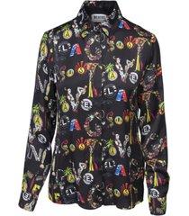 versus zwarte bedrukte blouse