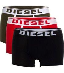 diesel 3 stuks fresh and bright damien boxer trunks