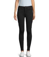 joe's jeans women's mid rise ponte skinny pants - black - size 31 (10)
