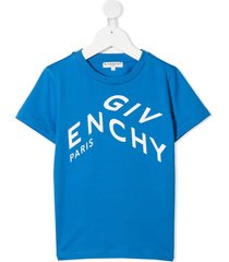 blue jersey t-shirt with logo