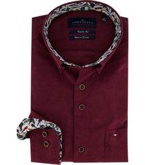 overhemd portofino regular fit bordeaux