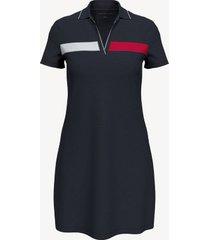 tommy hilfiger women's essential flag polo dress sky captain - xxs