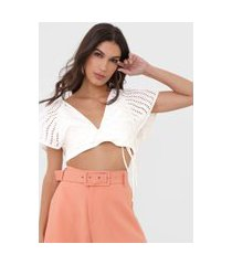 top open style laise off-white