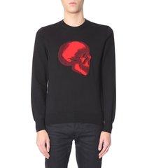 alexander mcqueen sweater with skull