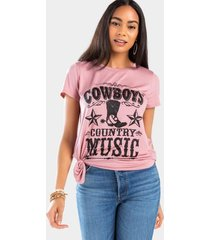 cowboys and country music tee - mauve