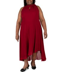 robbie bee plus size sleeveless tie-neck maxi dress