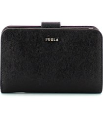 furla womens black wallet