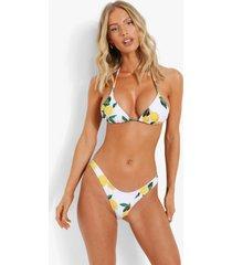 bikini top met vollere cups en strik, white