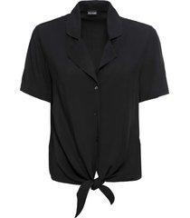 camicetta a maniche corte con nodo (nero) - bodyflirt