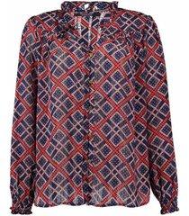 blouse ruffle multi