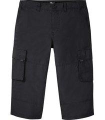 pantaloni cargo a pinocchietto con taglio comfort regular fit (nero) - bpc bonprix collection