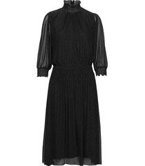 engelica knälång klänning svart boss