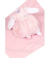 saída de maternidade beth bebê  lais vestido rosa