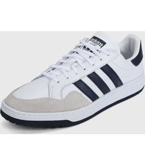 tenis lifestyle blanco-azul adidas originals team court