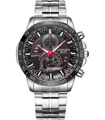 orologi da uomo per orologi fahion in acciaio inossidabile con quadrante luminoso in quarzo
