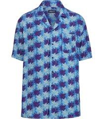 overhemd men plus blauw::marine::wit