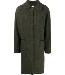 a.n.g.e.l.o. vintage cult 1980s diamond-pattern woven knee-length coat
