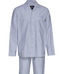 pajama set organic pyjama blauw lexington home