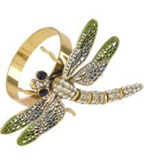 saro lifestyle jeweled dragonfly napkin ring, set of 4