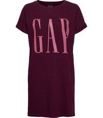 gap exp tee dress kort klänning röd gap
