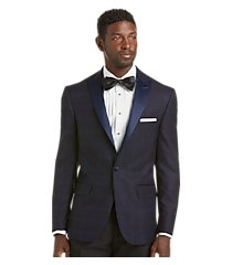 jos. a. bank tailored fit plaid tuxedo dinner jacket - big & tall, by jos. a. bank
