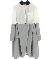 sacai asymmetric coat