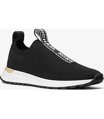 mk sneaker bodie slip-on in mesh con logo - nero (nero) - michael kors