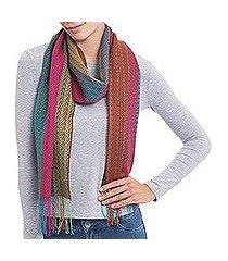 alpaca blend scarf, 'fiesta harmony' (peru)