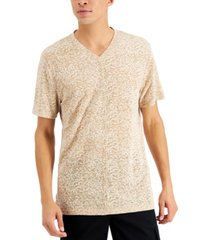 inc international concepts men's pieced textured burnout v-neck t-shirt, created for macy's