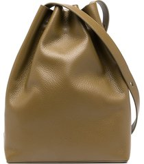 aesther ekme drawstring calf-leather shoulder-bag - green