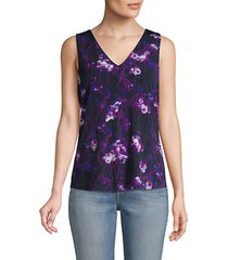 v-neck printed top