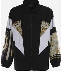 versace baroque print track jacket