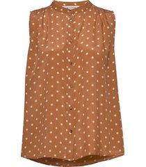 blouse blus ärmlös brun sofie schnoor