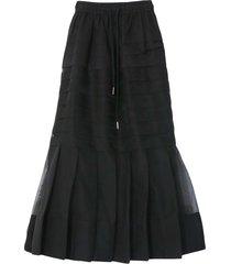 callie pleat skirt in black