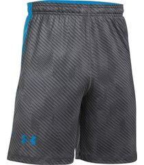 pantaloneta under armour raid novelty 8in-negro-azul-gris claro