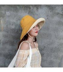 sombrero para el sol sombrero anti-ultravioleta de algodón para las mujeres