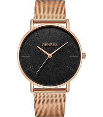reloj ultrafino unisex acero pulso malla analogico 224 dorado rosa
