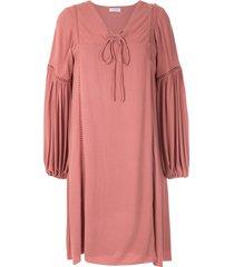 olympiah hagia wide sleeves dress - pink