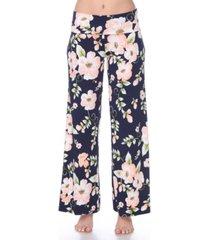white mark floral print palazzo pants