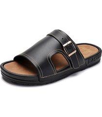 fibbia metallica per uomo. comodi sandali sottopiede in sughero