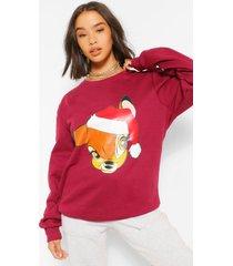 disney kerstbambi sweater, berry