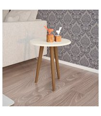 mesa lateral móveis bechara brilhante off white