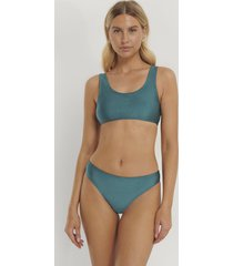 na-kd swimwear sporty bikini briefs - turquoise