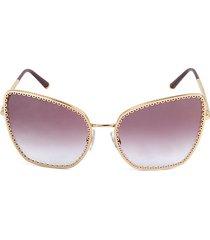 61mm oversized cat eye sunglasses