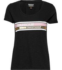 b.intl lightning tee t-shirts & tops short-sleeved svart barbour