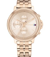 tommy hilfiger women's chronograph carnation gold-tone stainless steel bracelet watch 38mm