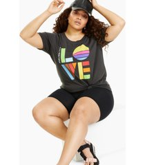 mighty fine plus trendy love graphic t-shirt