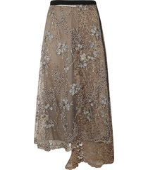 antonio marras asymmetric lace skirt