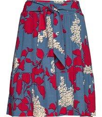 prt mini skirt knälång kjol röd calvin klein
