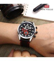 reloj para hombre/correa de piel/ mini focus / 0083g / reloj